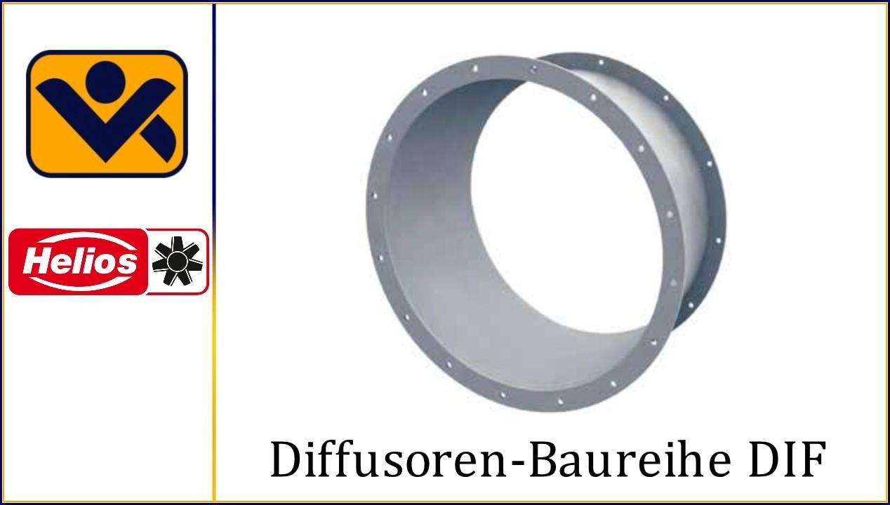 Diffusoren-Baureihe DIF _Gebaeudeausruestung_Entrauchung _F300_F400_ F600_Druckrueckgewinn_Ventilator_3551_DIF 280_3552_DIF 315_3568_DIF 800_ iv-krause Helios Ventilatoren