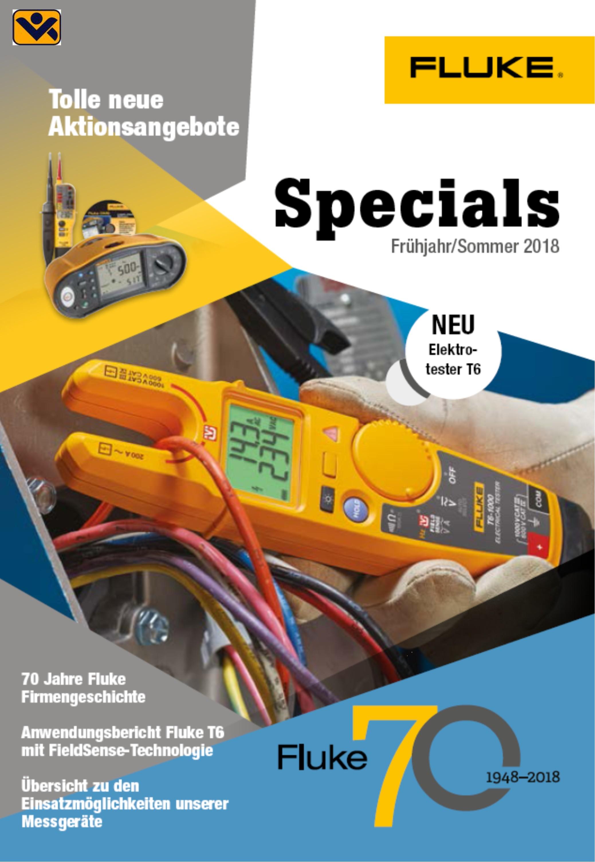 Specials Fluke Fruehjahr Sommer 2018 Aktion Elektrotester Fluke T6_Stromzange_Tis20_6500-2_1664FC_1663FC_Fluke_325_pdf