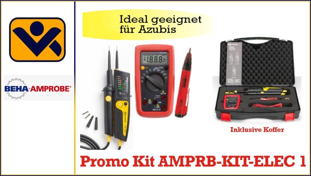 Promo Kit AMPRB-KIT-ELEC 1 Beha Amprobe 2100- Alpha Spannungspruefer AM-500-EUR Kompaktes Digitalmultimeter 2052D