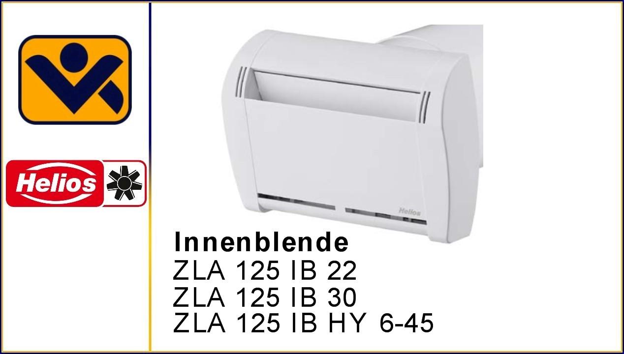 Innenblende, ZLA 125 IB HY 6-45, ZLA 125 IB 30, ZLA 125 IB 22, ZLA LE, Laibungselement, G2-Filter, feuchtegesteuert,volumenkonstant, iv-krause Helios Ventilatoren