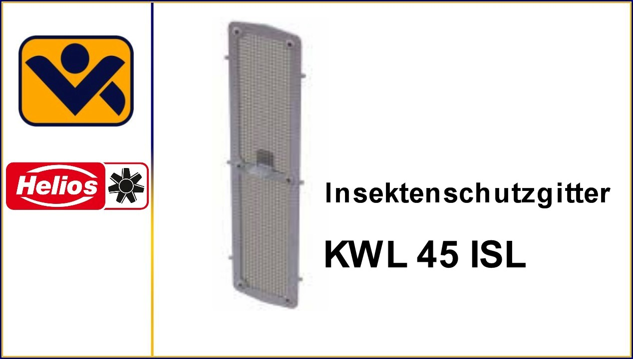 KWL 45 ISL, Insektenschutzgitter,Edelstahl,Laibungselement ,3004, iv-krause Helios Ventilatoren