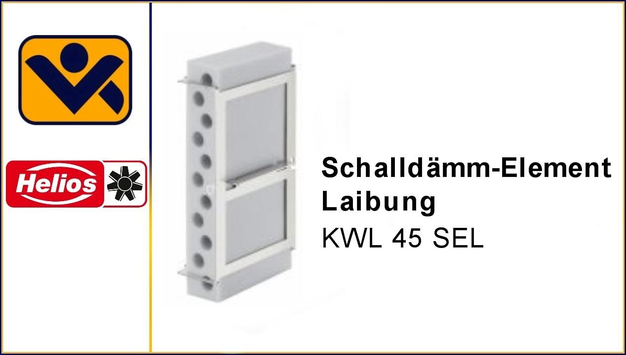 KWL 45 SEL, Schalldaemm-Element Laibung,Laibungskanal, iv-krause Helios Ventilatoren