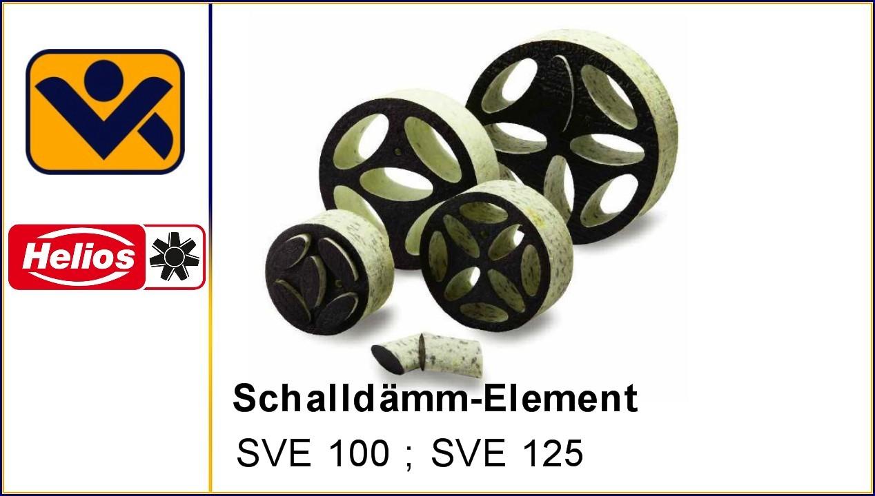 Schalldaemm-Element, Volumenregelung,, SVE 100 , 8310,SVE 125, 8311, Druckregulierung , Schalldaemmung,Lueftungsanlagen, iv-krause Helios Ventilatoren