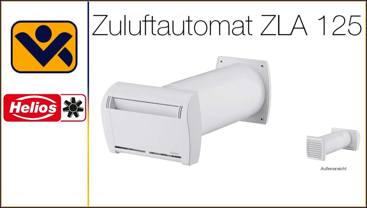 Zuluftautomat ZLA 125, iv-krause, Helios ,Zuluft Automat , Zuluft Ventil, Zuluft Element Helios ZLA 125, Ventilatoren