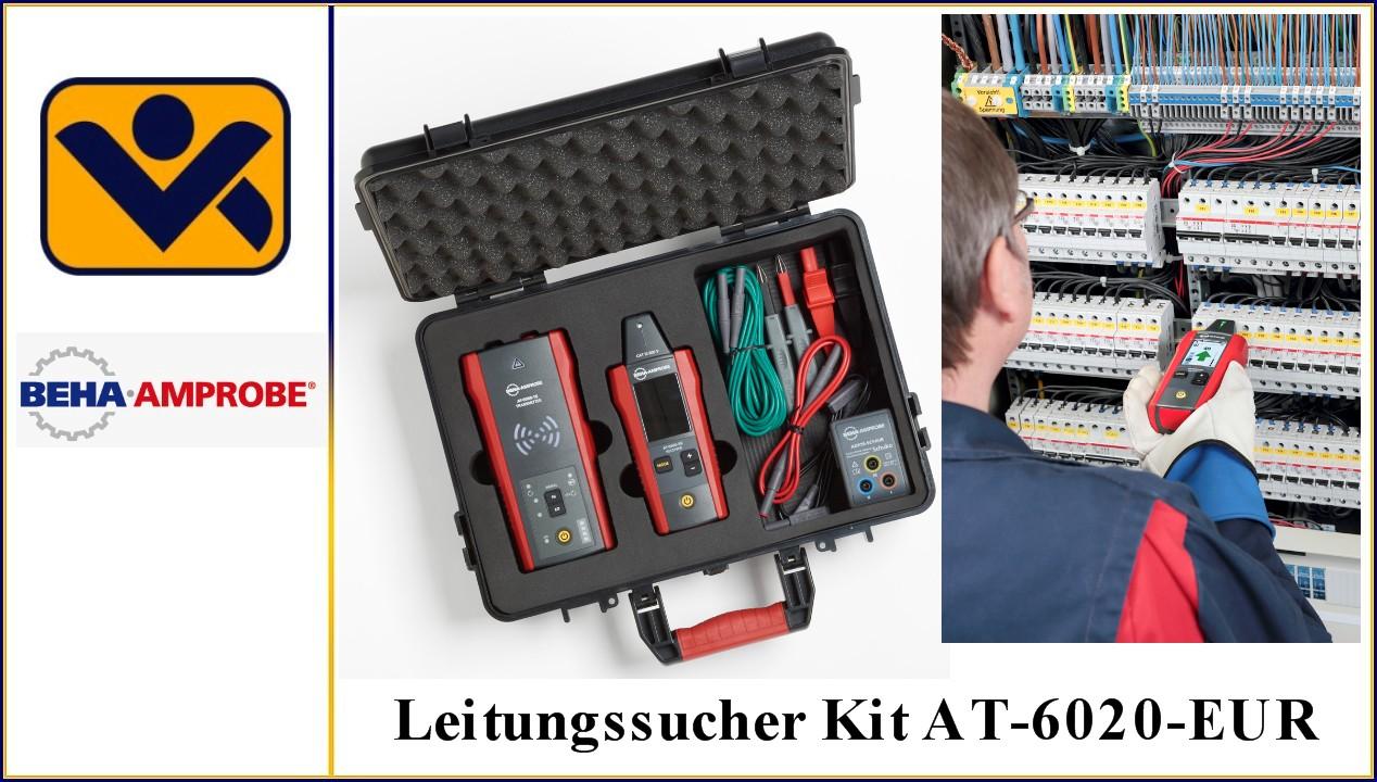 Sender AT-6000-TE, Artikel Nr. 4868002, Leitungssucher Kit AT-6020-EUR, Empfaenger AT-6000-RE, TL-7000-EUR,ADPTR-SCT-EUR -CH, CC-6000, iv-krause, Beha Amprobe