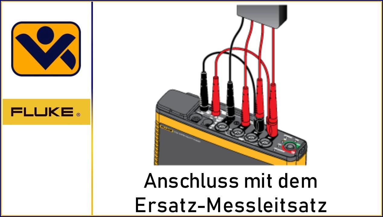 Ersatz-Messleitsatz , Netzqualitaets-Logger ,1730, Fluke-1732, Fluke-1734, Fluke-1736, Fluke-1738, Fluke-1742, Fluke-1746, Fluke-1748, iv-krause Fluke