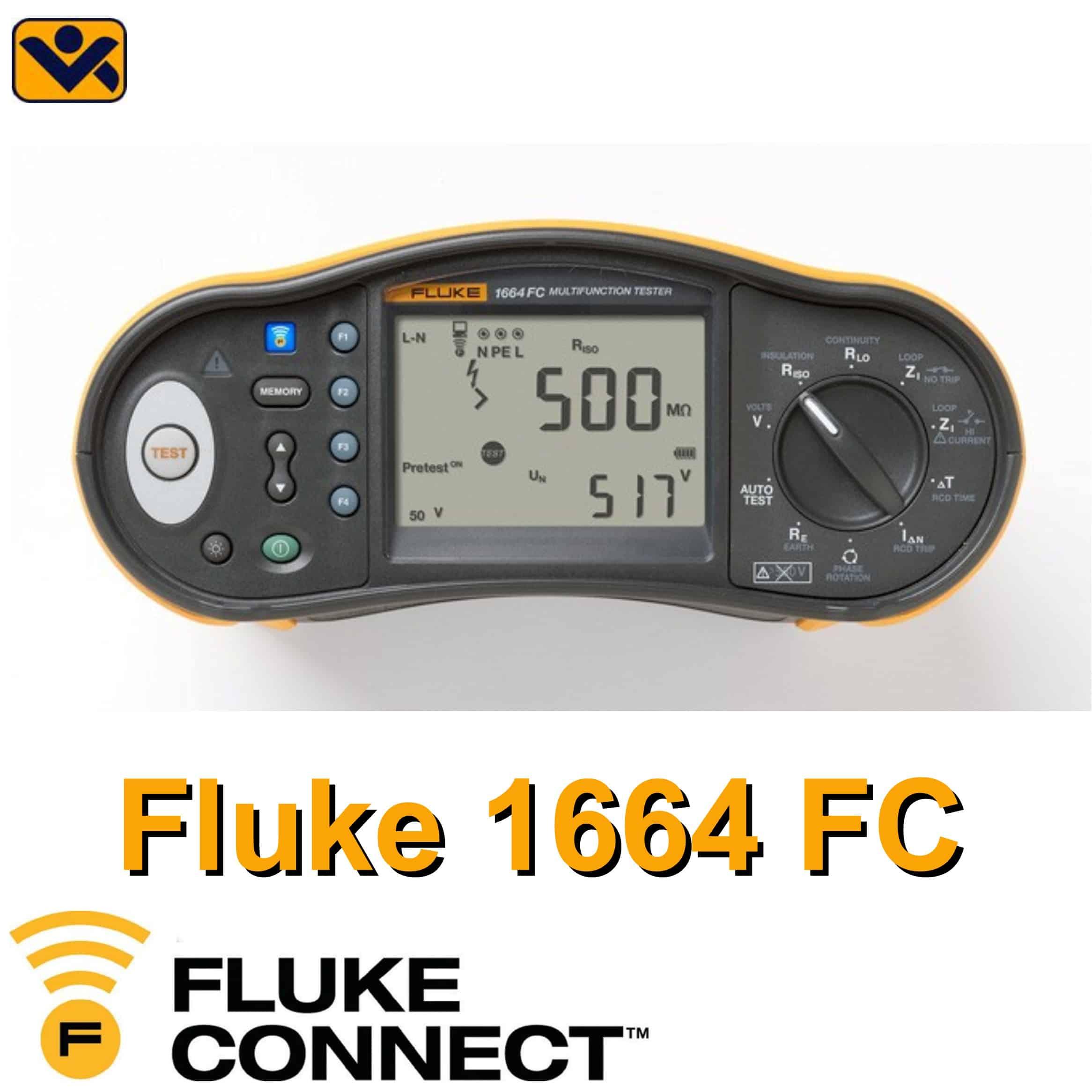 Fluke_Serie_1664_ FC_Fluke_ 1664_FC_VDE_0100_ 0105_Anlagentester_ Installationstester