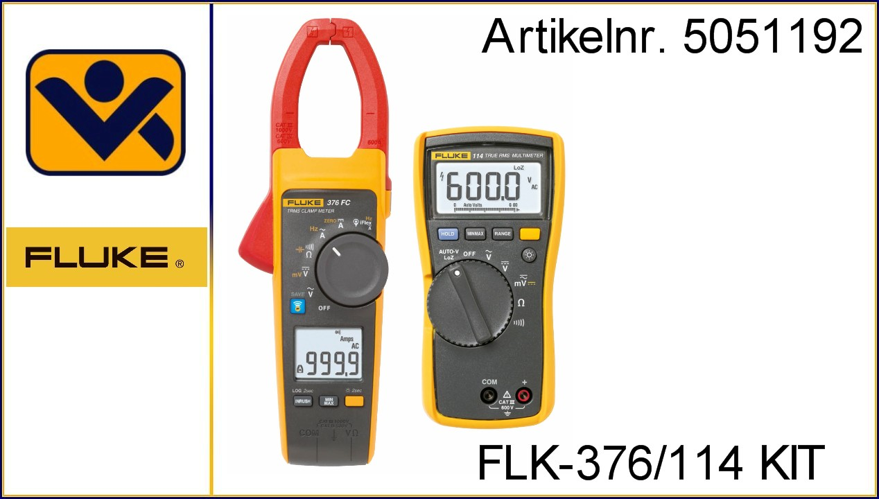 FLK-376_114 KIT_ iv-krause_Fluke_114_Digitalmultimeter_ Zangenamperemeter_Strommesszange_Stromzange_376_FC_5051192_Echteffektiv-Gleich-Wechselstrommesszange_Aktion_Aktionsset