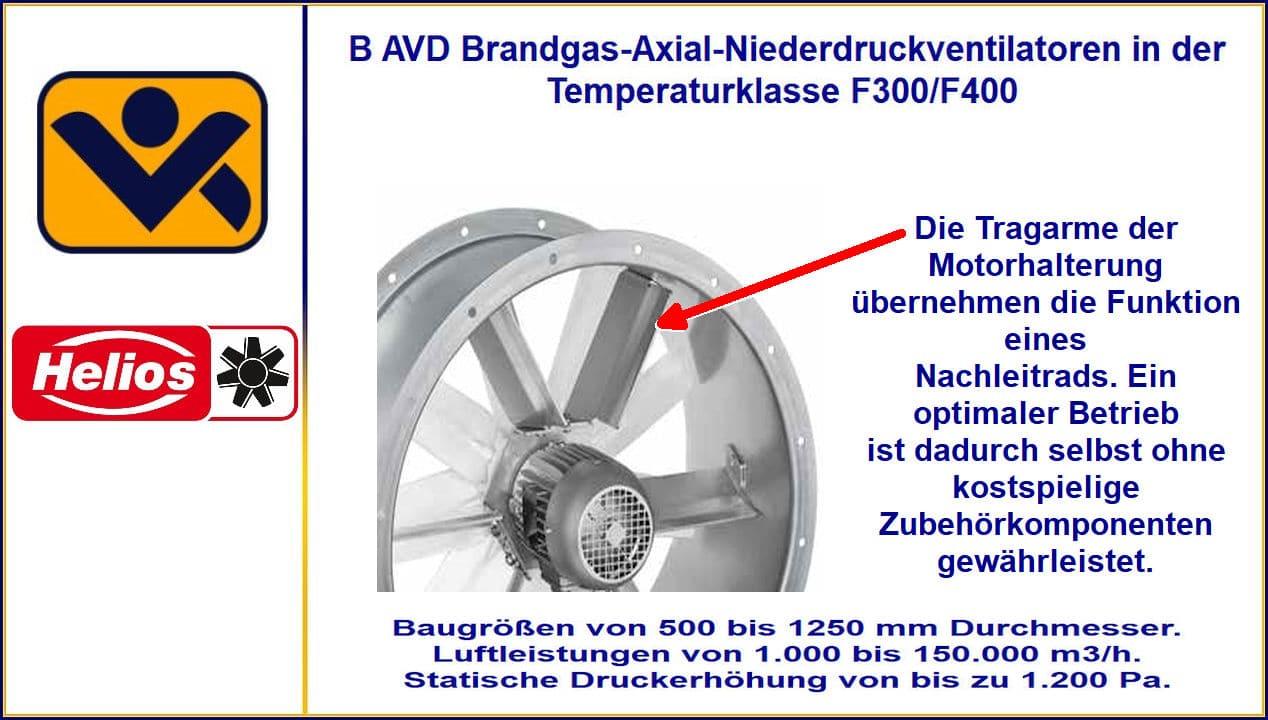 Brandgasventilatoren, Brandgasventilator, TGA_Helios, Ventilatotren, B AVD, BAVD, Temperaturklassen F300 und F400, 120 minunten, technische Gebäudeausrüstung, Feuerwiderstandsklasse, Temperaturklasse, Brandgasventilatoren F-300 und F-400, TGA - Technische Gebäudeausrüstung, Helios Ventilatoren GmbH, Helios Select, FSB Brandgasventilator mit Doppelfunktion, Absaugventilator, Axiale Brandgasventilatoren, Axialer Brandgasventilator, Berlin, Brandenburg, Entrauchung